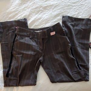 womens gray plaid cabi sz 2 pants cargo trouser